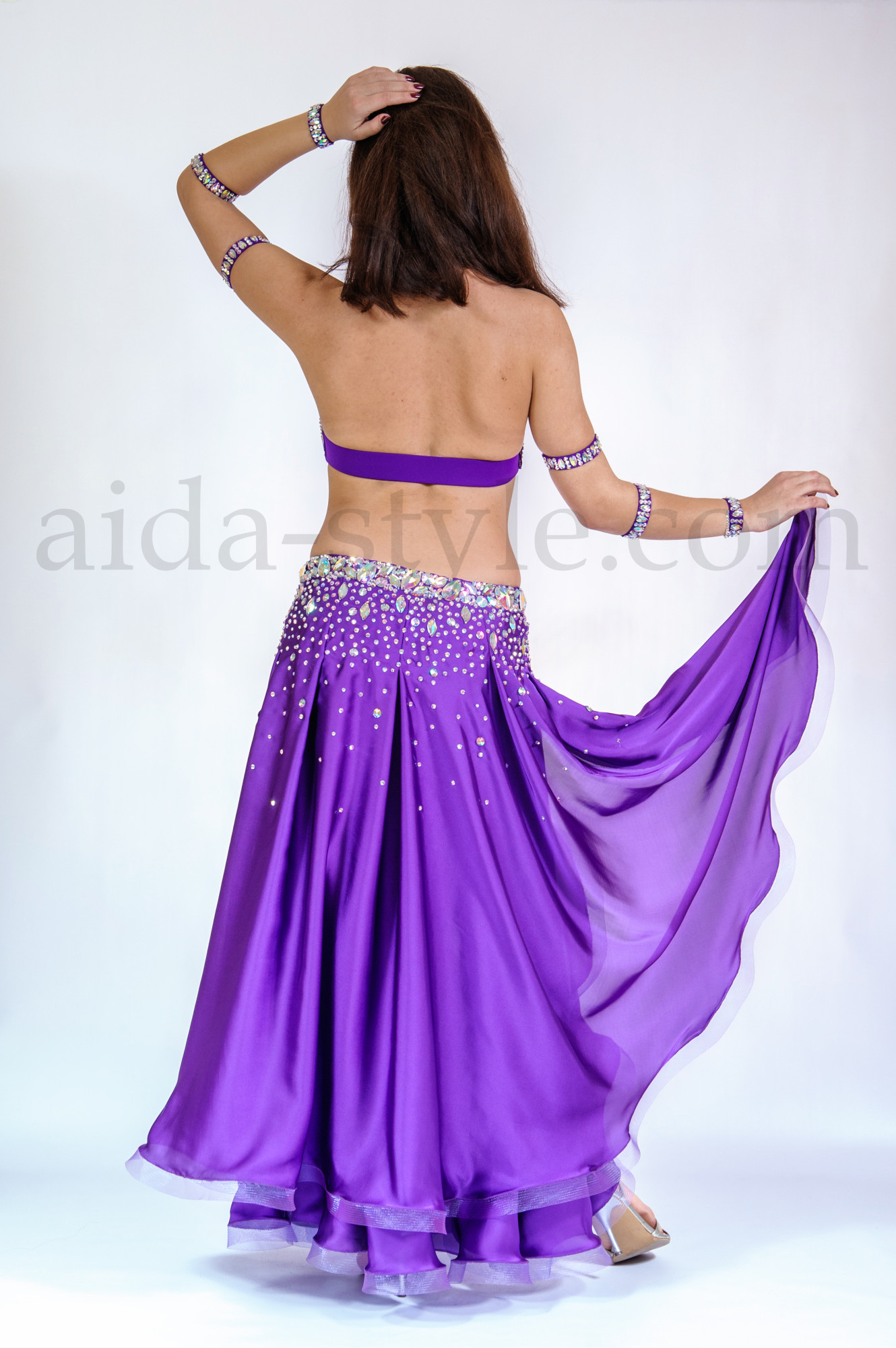 Purple professional bellydance costume