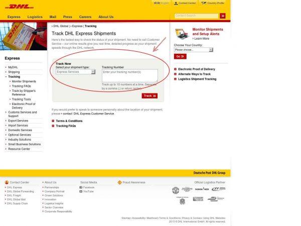 DHL track a parcel _Aida Style