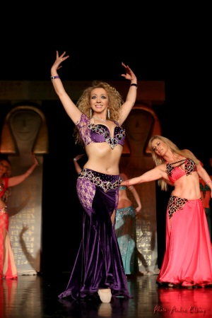 Leyla Jouvanna performs in costume by Aida Style