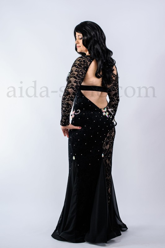 Black professional bellydance costume