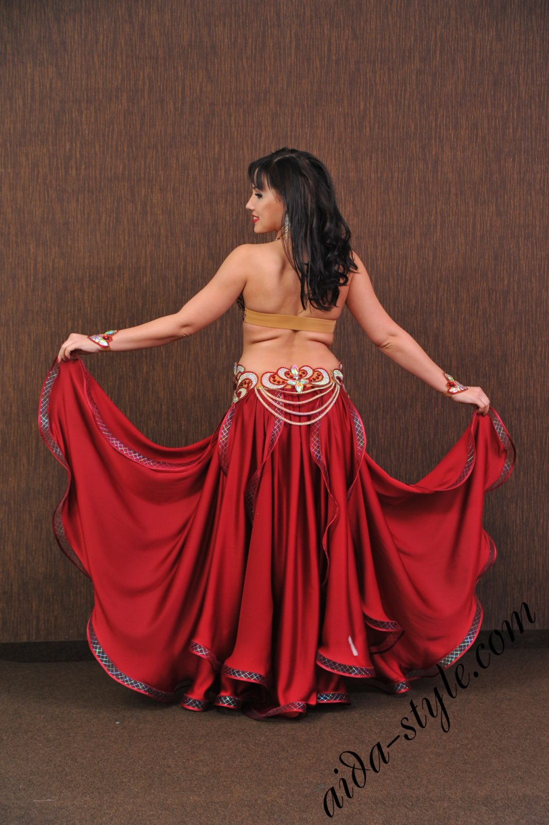bordo designer belly dance costume by Aida
