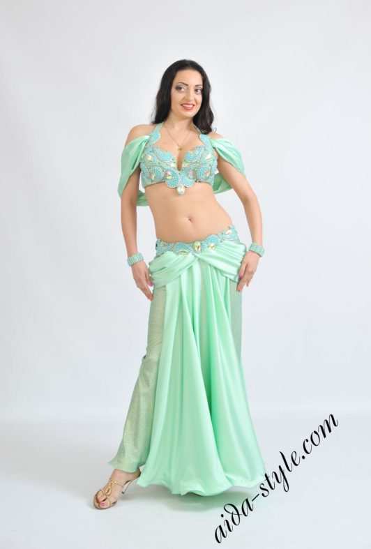 Mint oriental costume princess style