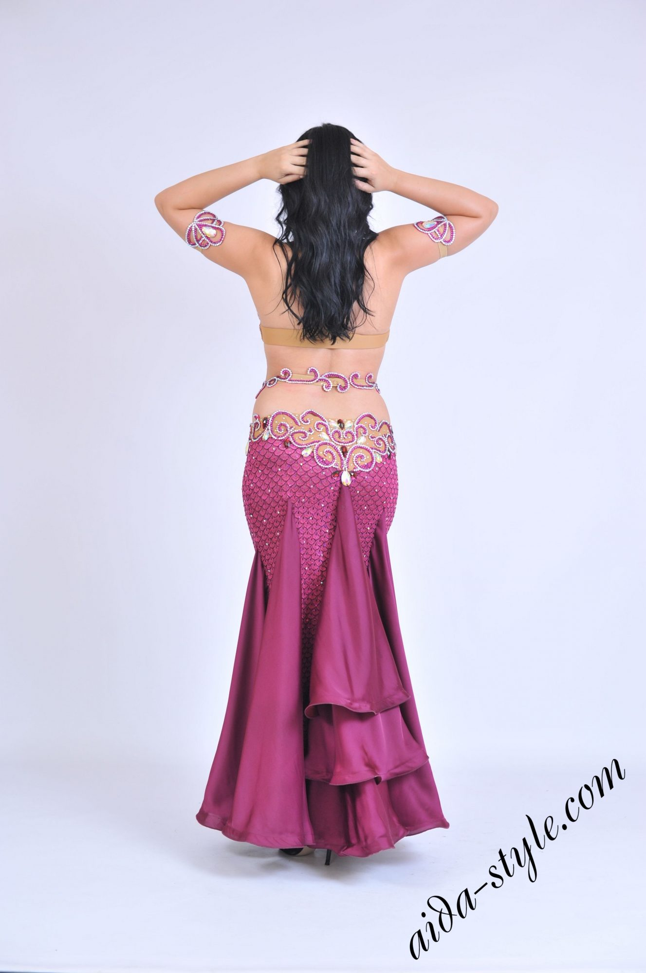Bordeaux belly dance outfit by Aida Style boutique