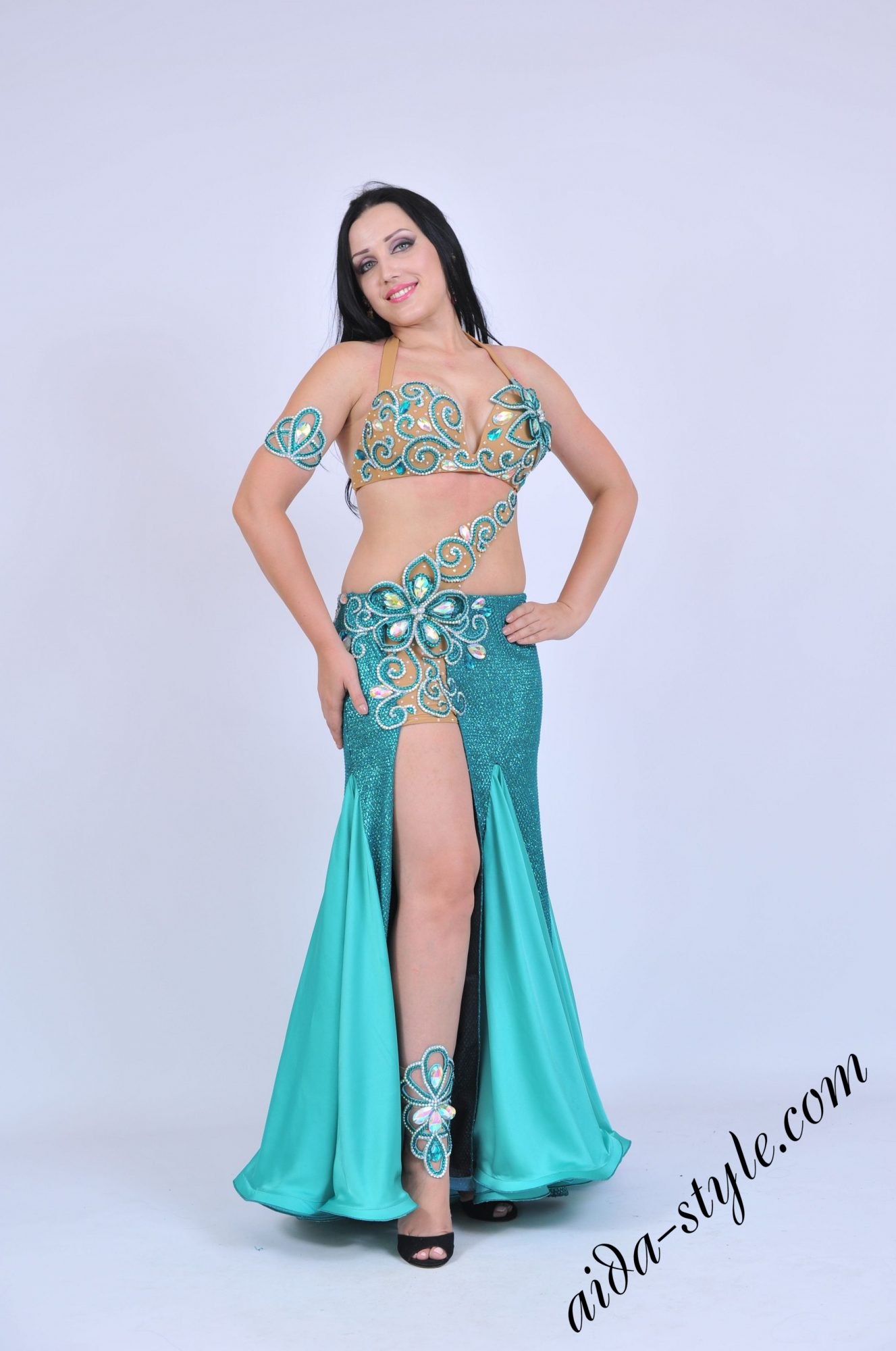 Aida Style costume with mermaid skirt