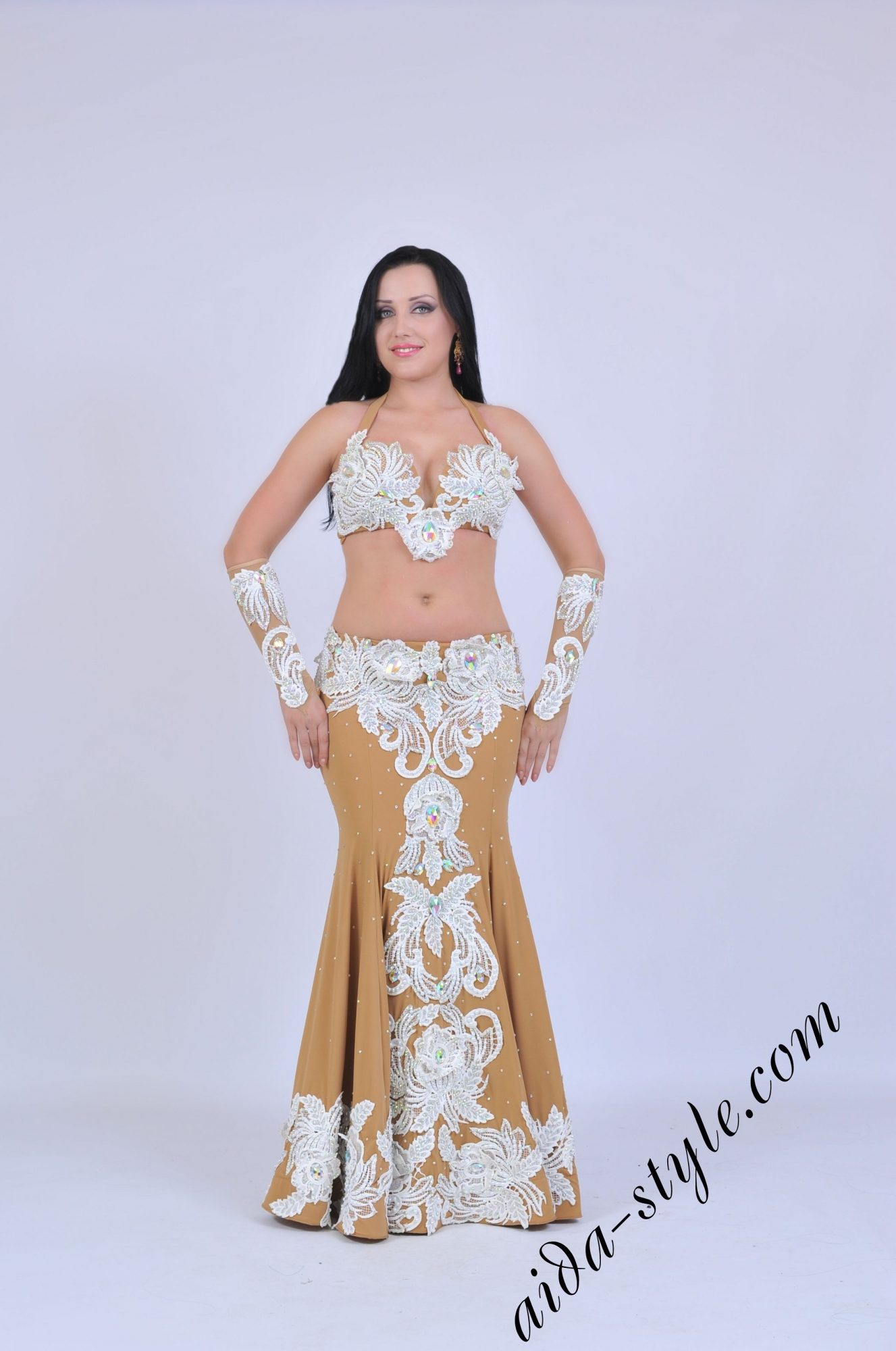 Premium Aida Style belly dance costume