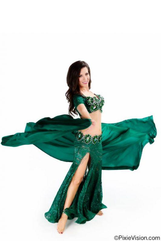 Andalee Owens in custom made costume by Olga Aida