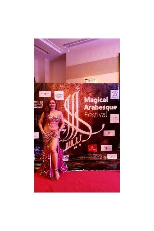 Sunhwa Yoon in her costume by Olga Aida at Magical Arabesque Festival 2016 in Dubai
