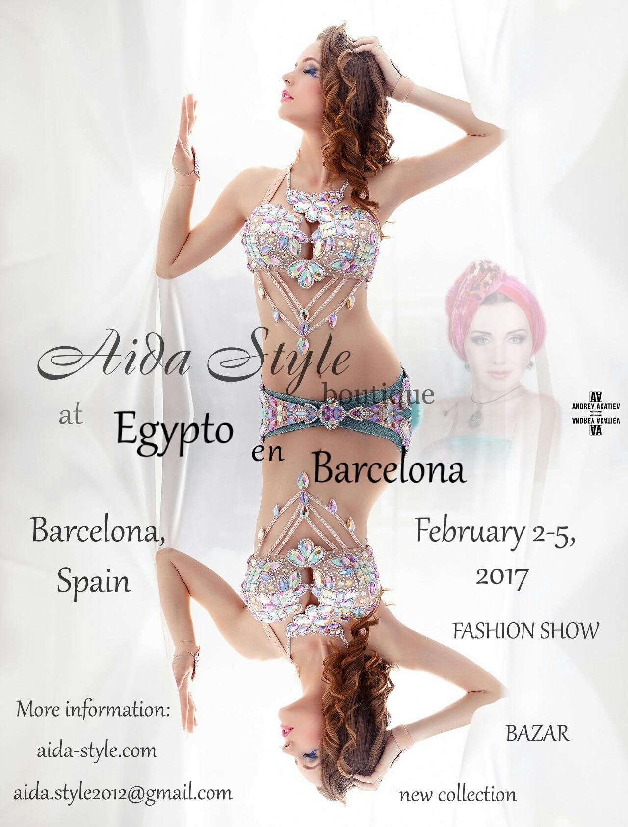 Aida Style costumes in Barcelona, at Egypto in Barcelona, Munique Neith belly dance festival