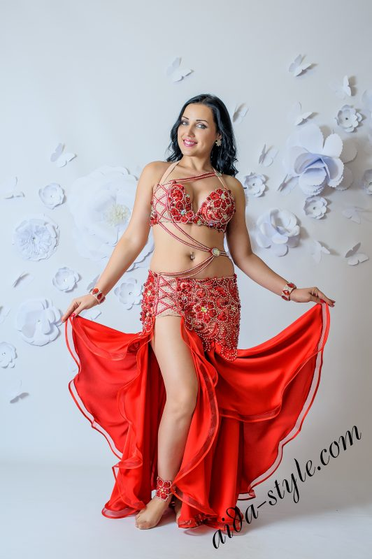 Red Aida Style costume