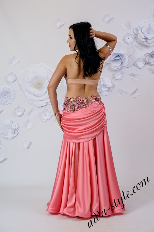 Pink belly dance dress by Olga Aida