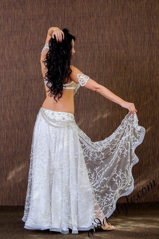 white Oriental costume by Olga Aida