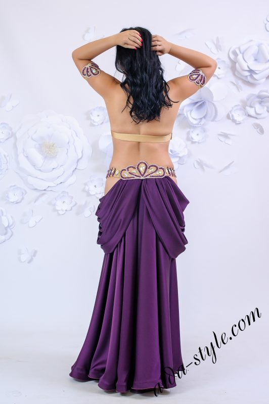 "Purple ""shell style"" belly dance costume by Olga Aida"