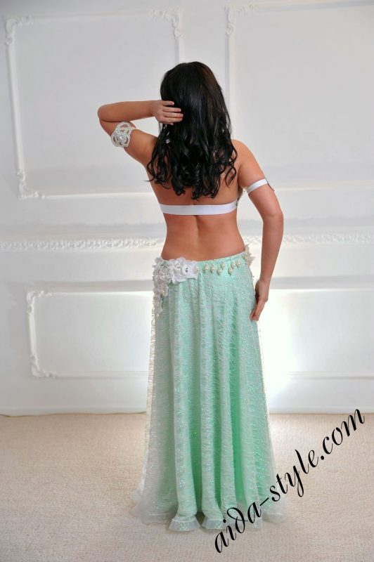 Aida Style costume in light mint and white