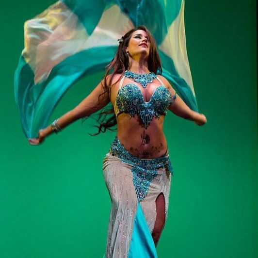 Romina Maluf in belly dance costume by Aida Style