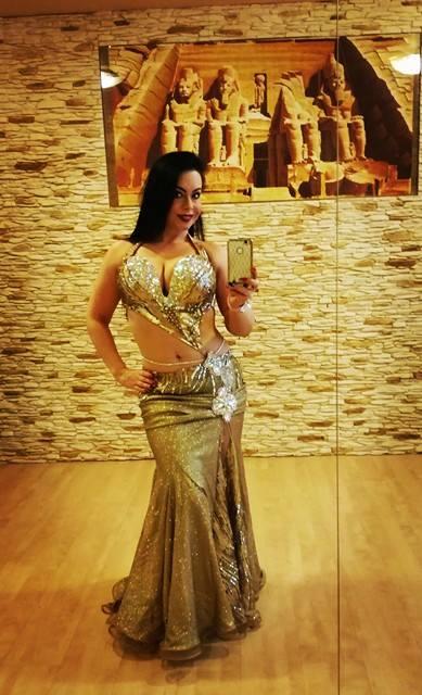 Designer belly dance costume for women