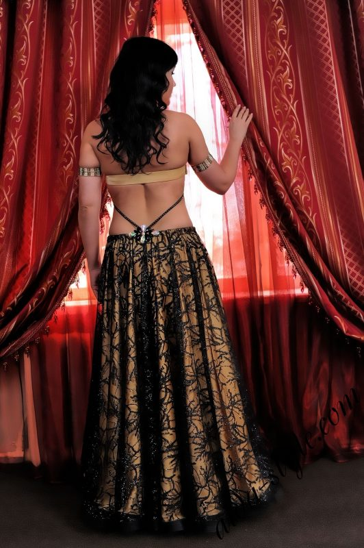 black and golden design for belly dancing by Aida Style