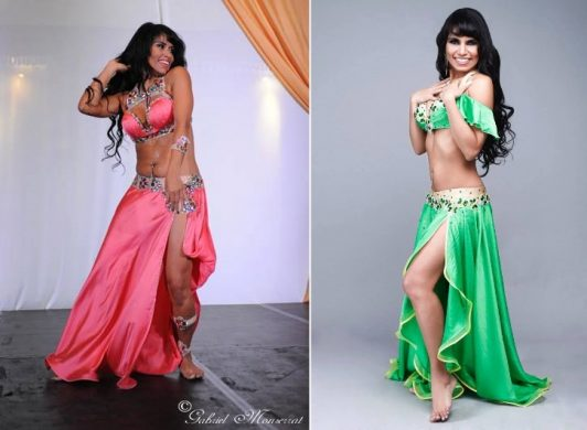 Munique Neith in belly dance costumes by Aida Style