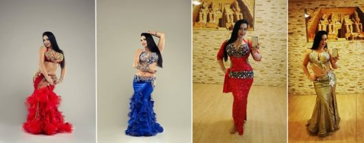 Suraiya Ibrahim in Aida Style's belly dance costumes