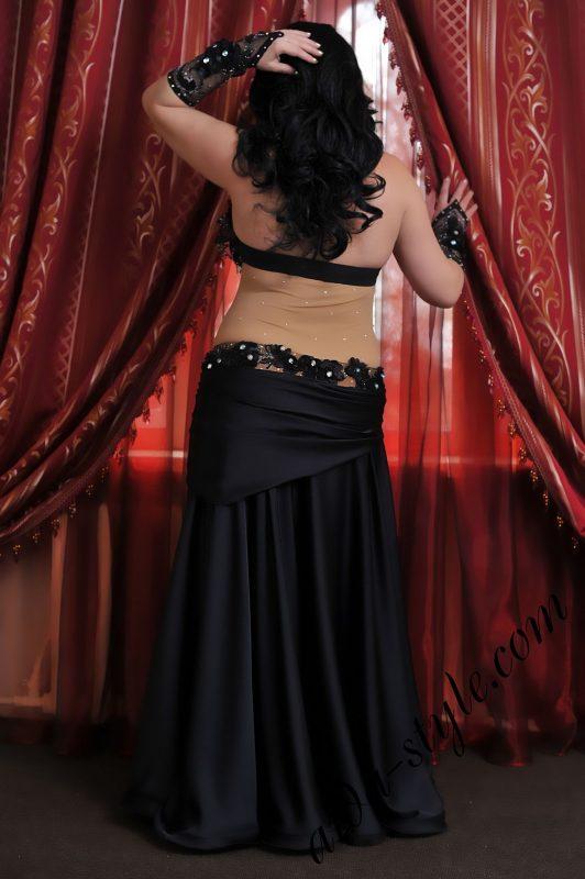 black stylish designer's belly dance costume by Aida Style
