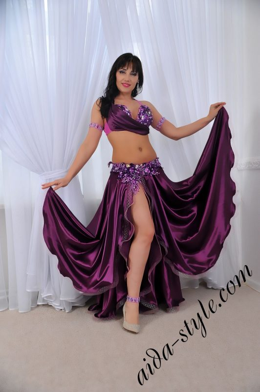 purple belly dance set by Aida Style