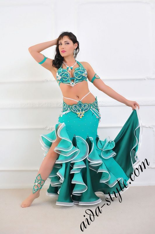 navy and turquoise oriental costume to buy and to order (5)