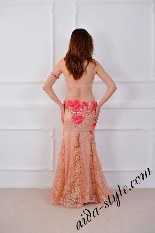 pro belly dance costume with fitted mermaid skirt by aida style
