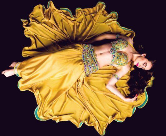 Custom sewed belly dance costume by Aida Style for Sofia Anarkali Lamprianidi