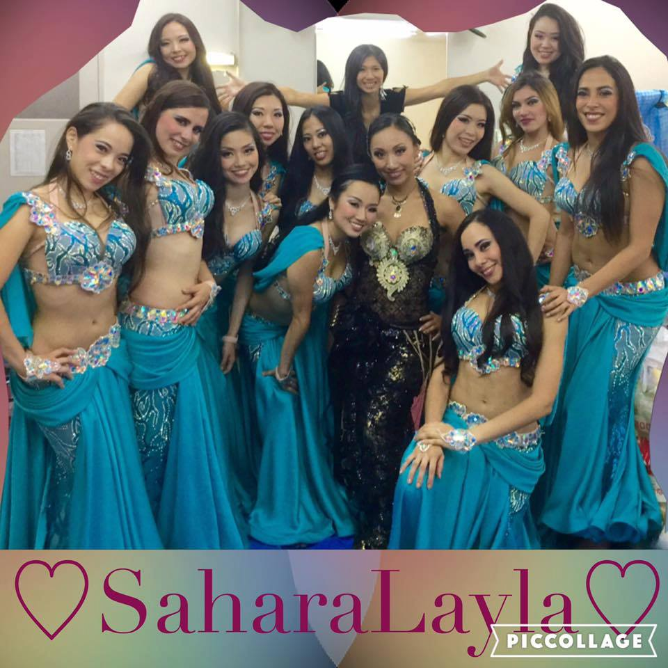 Custom sewed belly dance costumes for groups