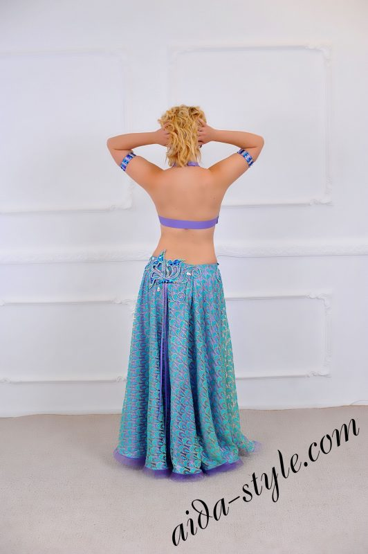 Belly Dance Professional Full Costume Set with double circular skirt (5)