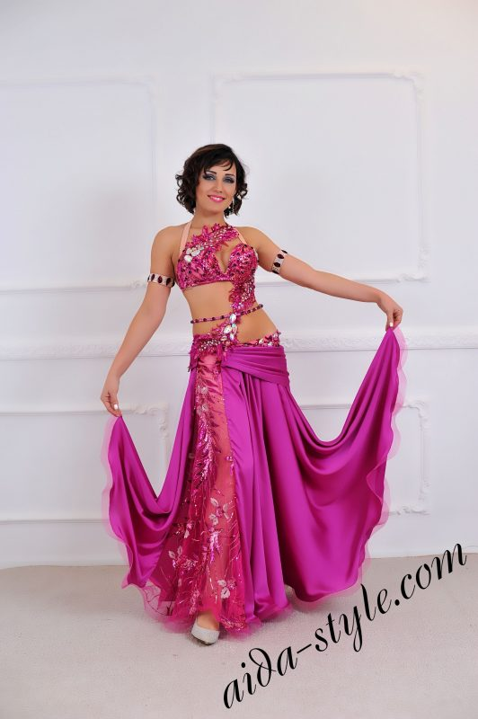 magenta designers belly dance costume for pro dancers and stage shows by Aida Style