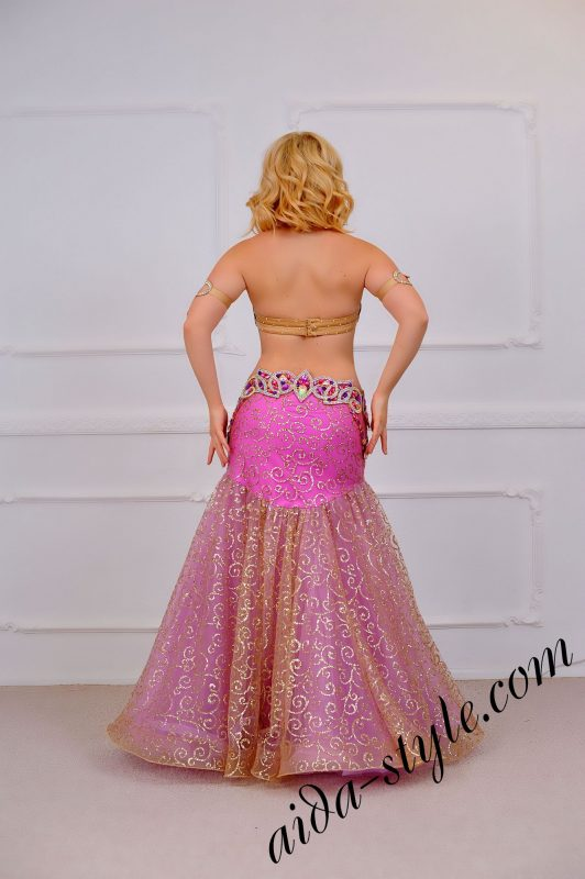 fashionable belly dance design by aida style (1) with wide fluffy circular skirt