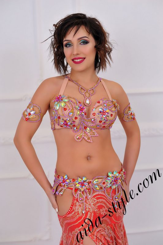 unique high end fashion designers belly dance costume (4)