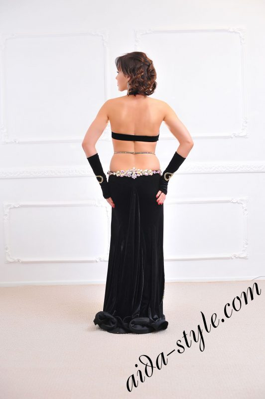 black dress for belly dancing (1) by aida style