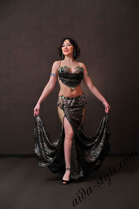 sexy designer's costume for belly dancing by aida style