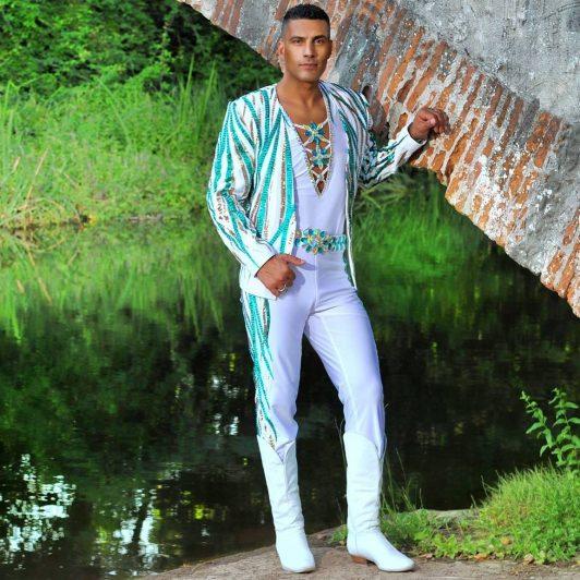 Wael Mansour in his custom made Aida Style costume