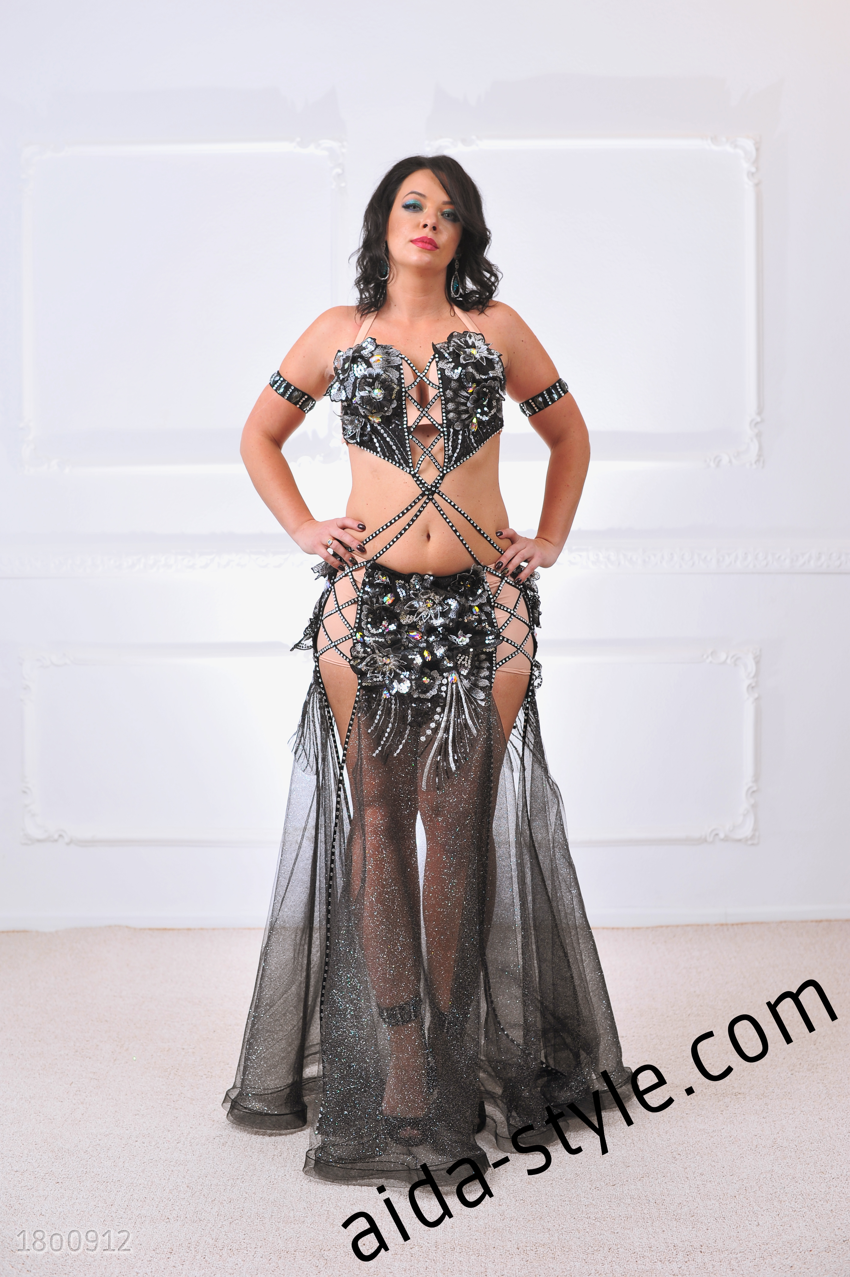 09fa12aa8 Sexual Belly Dance Costume With Lace And Mesh – Aida Style
