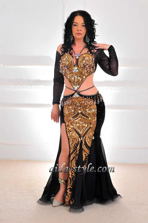 black belly dancers dress