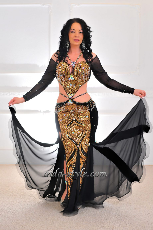 black belly dancer costume