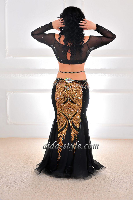 black belly dance dress