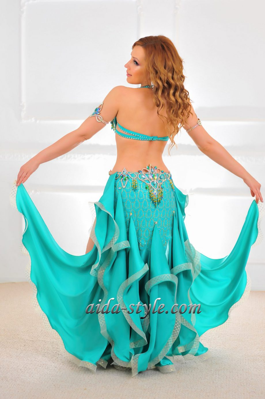 turquoise belly dance costume