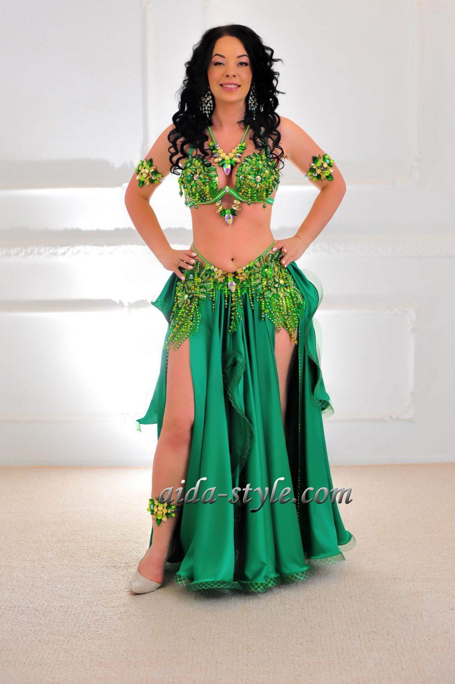 belly dance costumes women green