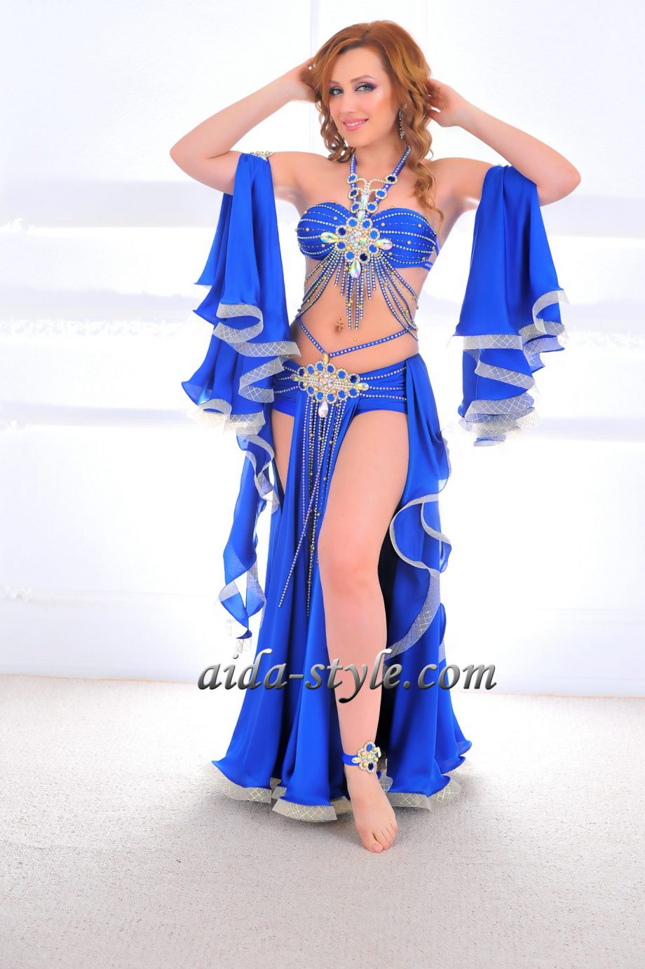 blue belly dancers costumes