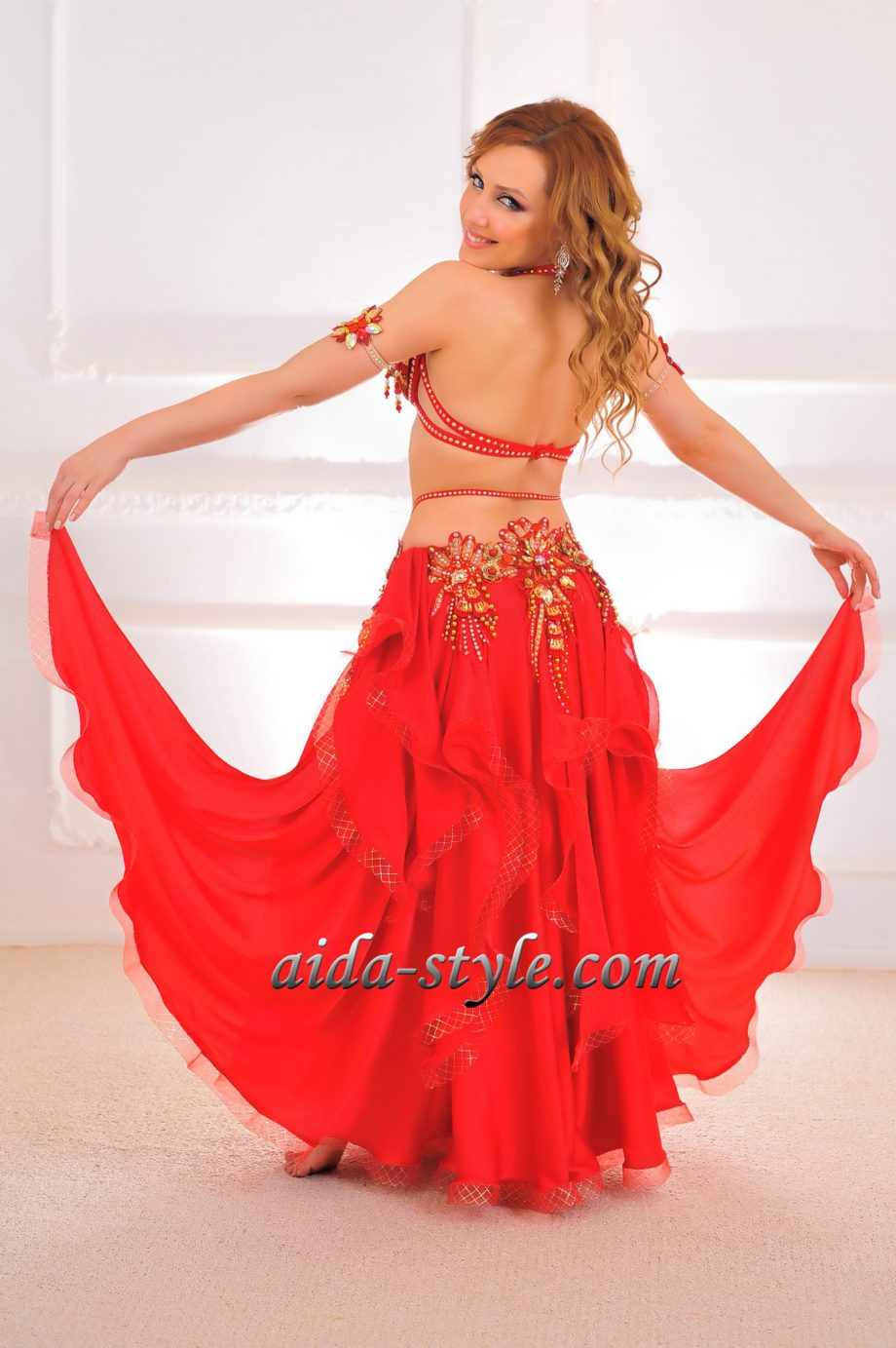 red belly dance costumes women