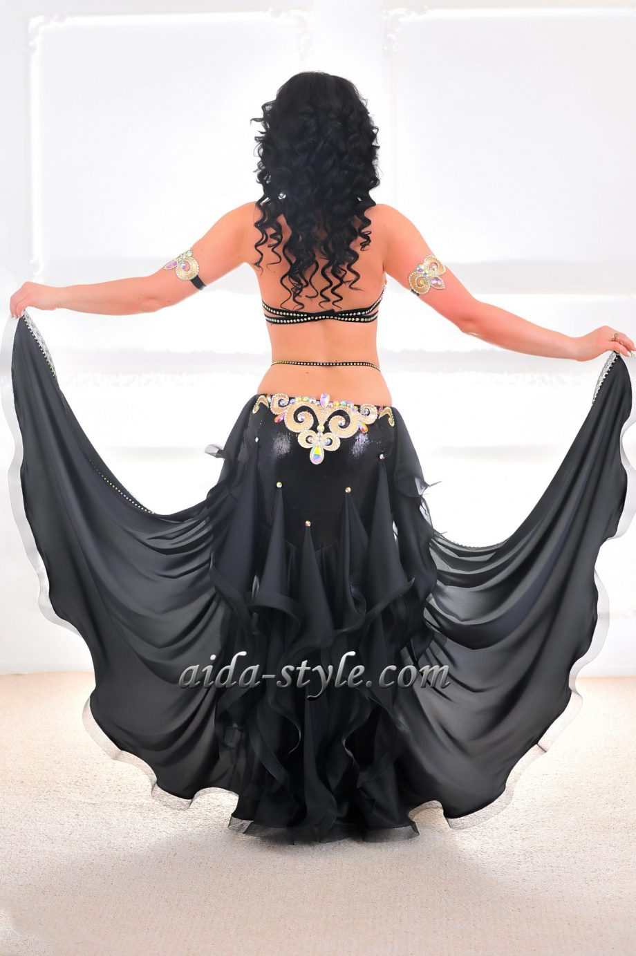 black costumes for belly dancing