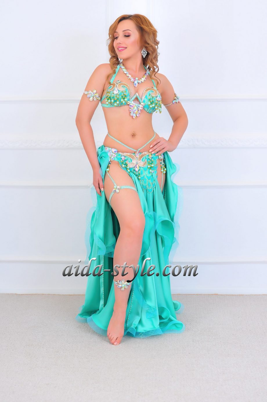 turquoise belly dancers costumes