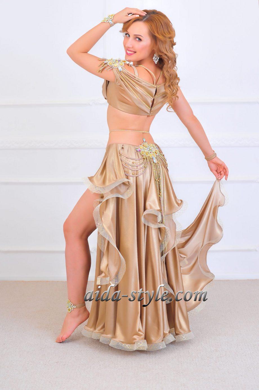 golden era belly dancing costume