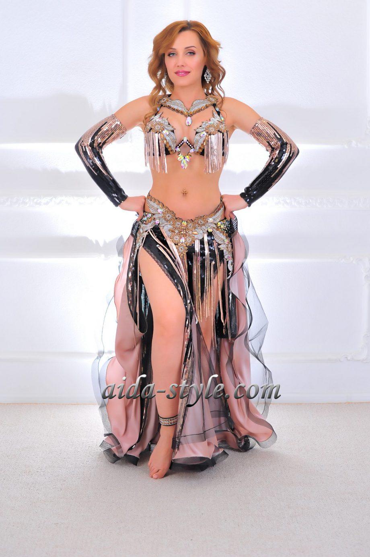 belly dancing costumes black