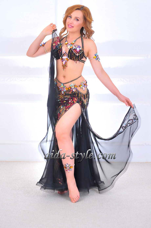 black belly dancing costume