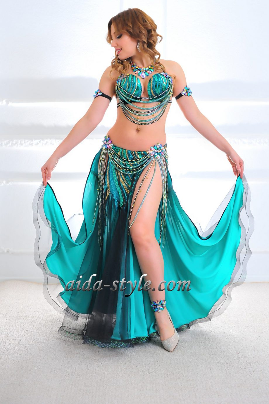 turquoise costume belly dance