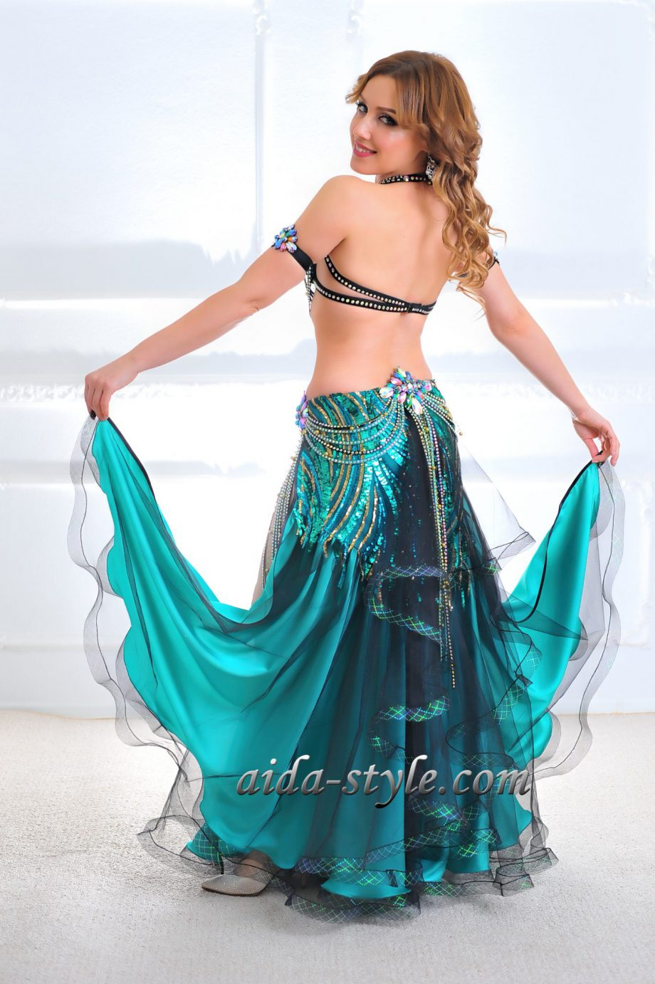 turquoise adult belly dancer costume